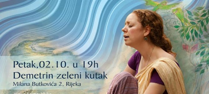 Koncert Jahnavi u Demetri (yoga is music)