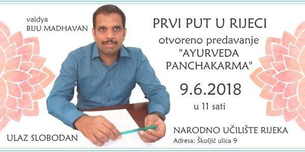 "Predavanje ""Ayurveda Panchakarma"""