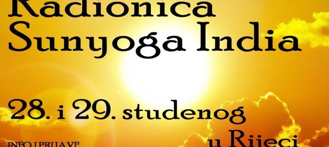 Radionica Sunyoga India 1. i 2. stupanj
